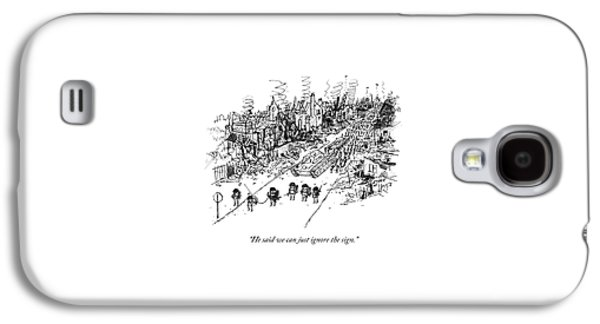 Many Soldiers And A Tank Marching Along A Road Galaxy S4 Case