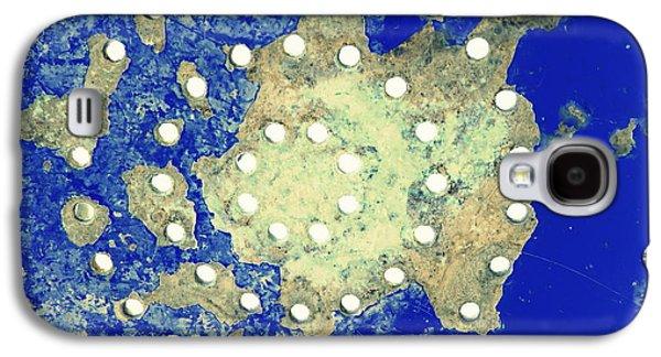 Map Coordinates Land And Sea Abstract Galaxy S4 Case by Ella Kaye Dickey