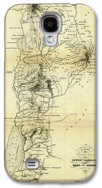 Map Countries South Of Damascus And East Of Jordan Galaxy S4 Case