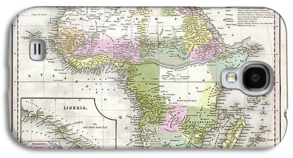 Map Of Africa Galaxy S4 Case by Library Of Congress, Geography And Map Division