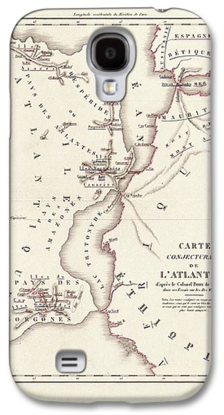 Gorgon Galaxy S4 Case - Map Of Atlantis by Library Of Congress, Geography And Map Division