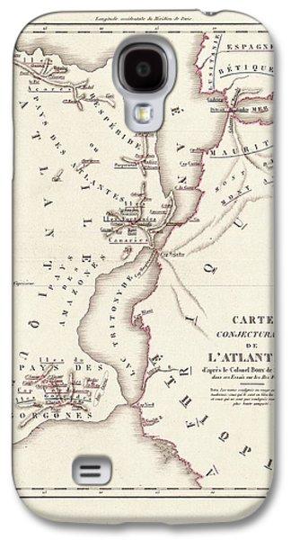 Map Of Atlantis Galaxy S4 Case