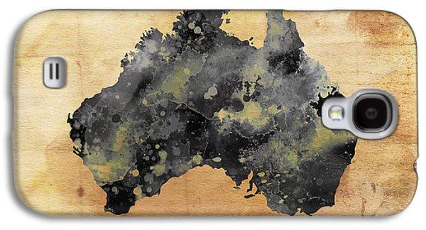 Map Of Australia Grunge Galaxy S4 Case by Daniel Hagerman