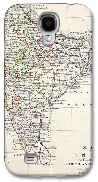 Map Of India Galaxy S4 Case
