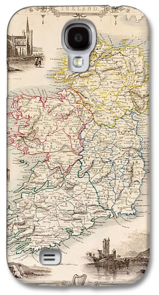 Map Of Ireland From The History Of Ireland By Thomas Wright Galaxy S4 Case by English School