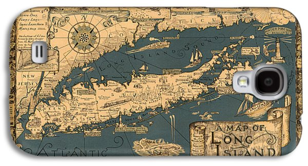 Map Of Long Island Galaxy S4 Case