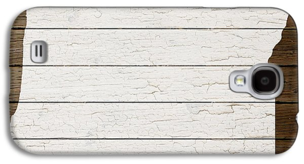 Map Of Oregon State Outline White Distressed Paint On Reclaimed Wood Planks Galaxy S4 Case by Design Turnpike