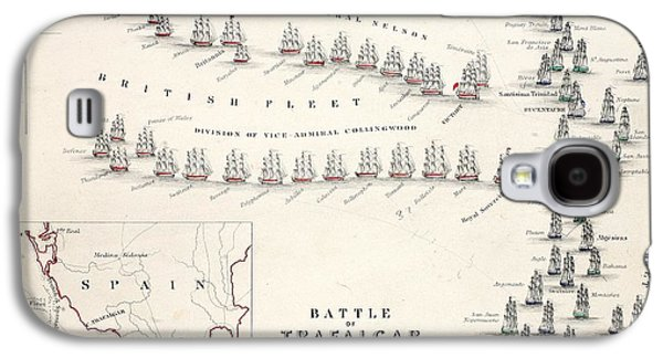 Map Of The Battle Of Trafalgar Galaxy S4 Case by Alexander Keith Johnson