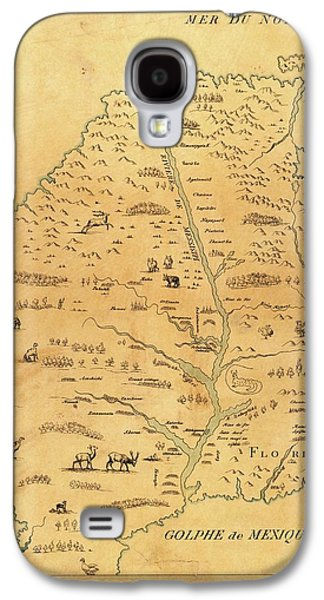 Marquette Galaxy S4 Case - Map Of The Mississippi River by Library Of Congress, Geography And Map Division