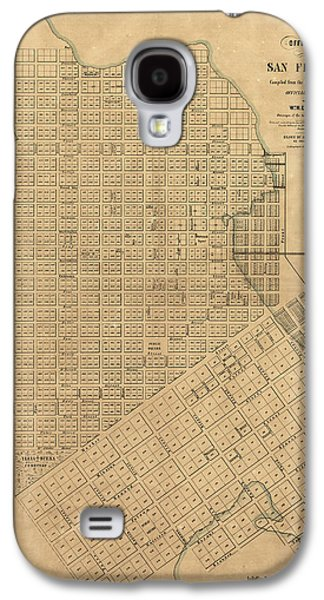 Map San Francisco, 1849 Galaxy S4 Case by Granger