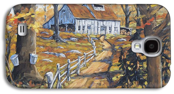 Maple Sugar Bush  Road By Prankearts Galaxy S4 Case by Richard T Pranke