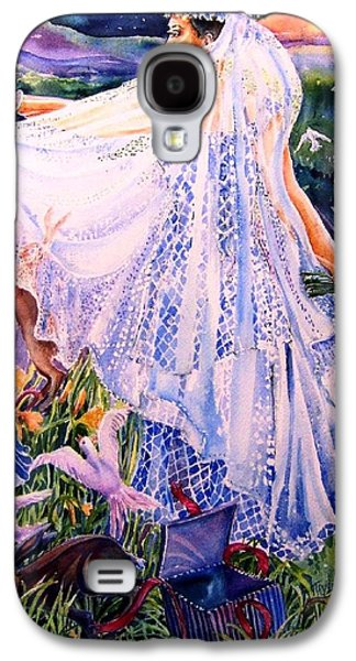 March Bride With Boxing Hares  Galaxy S4 Case by Trudi Doyle