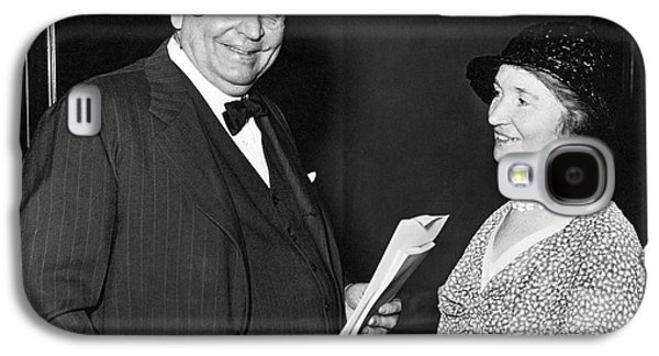 Margaret Sanger With Senator Galaxy S4 Case by Underwood Archives