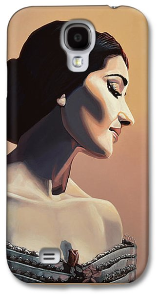 Maria Callas Painting Galaxy S4 Case by Paul Meijering