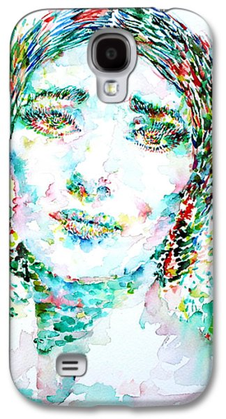 Maria Callas - Watercolor Portrait.1 Galaxy S4 Case by Fabrizio Cassetta