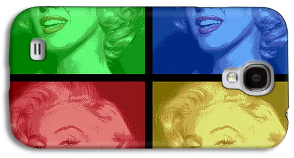 Marilyn Monroe Colored Frame Pop Art Galaxy S4 Case