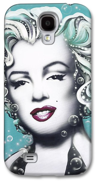 Marilyn Monroe Turquoise Galaxy S4 Case by Alicia Hayes
