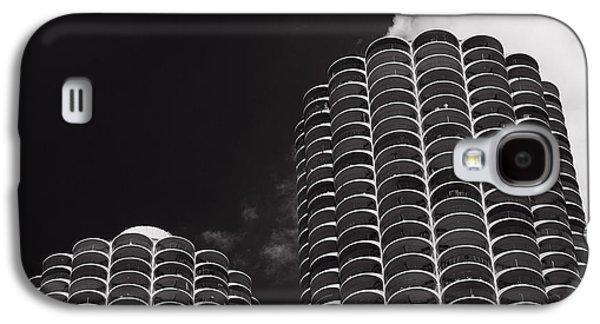 Marina City Morning B W Galaxy S4 Case by Steve Gadomski