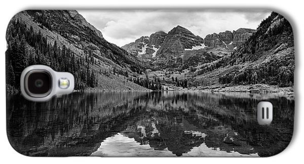Maroon Bells - Aspen - Colorado - Black And White Galaxy S4 Case