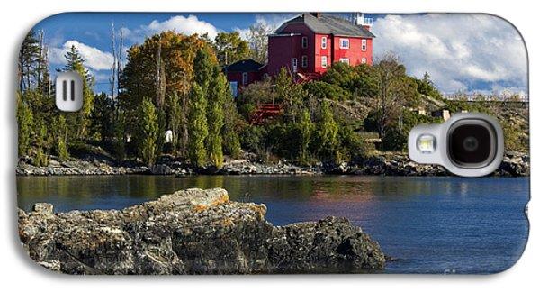Marquette Galaxy S4 Case - Marquette Harbor Light - D003224 by Daniel Dempster
