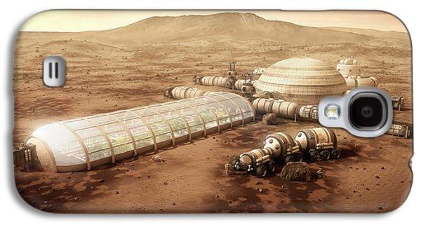 Mars Settlement With Farm Galaxy S4 Case