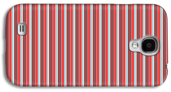 Marsala Stripe 2 Galaxy S4 Case