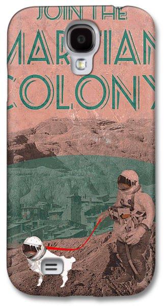 Martian Colony Mars Travel Advertisement Galaxy S4 Case