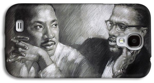 Martin Luther King Jr And Malcolm X Galaxy S4 Case by Ylli Haruni