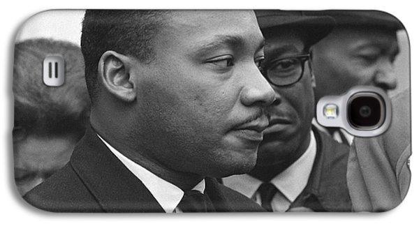 Martin Luther King, Jr Galaxy S4 Case by Warren K. Leffler