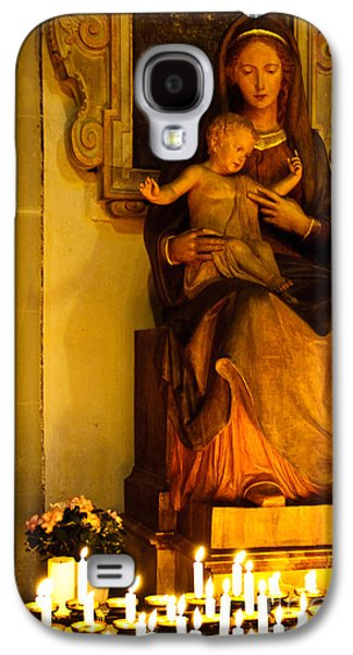 Mary And Baby Jesus Galaxy S4 Case by Syed Aqueel