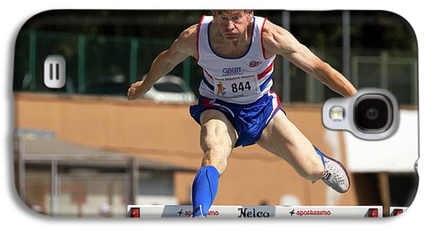 Masters British Athlete Clearing Hurdle Galaxy S4 Case