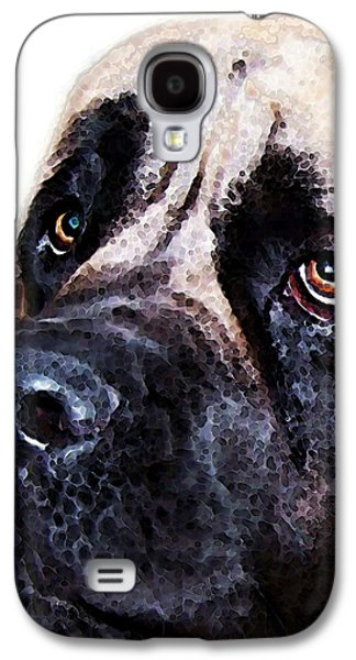 Mastiff Dog Art - Sad Eyes Galaxy S4 Case by Sharon Cummings