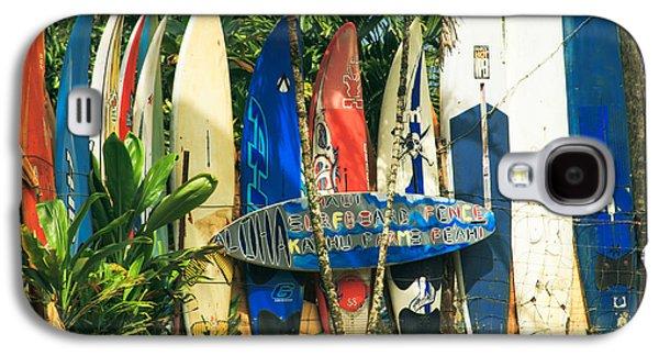 Maui Surfboard Fence - Peahi Hawaii Galaxy S4 Case