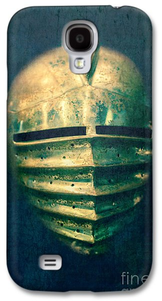 Maximilian Knights Armour Helmet Galaxy S4 Case by Edward Fielding
