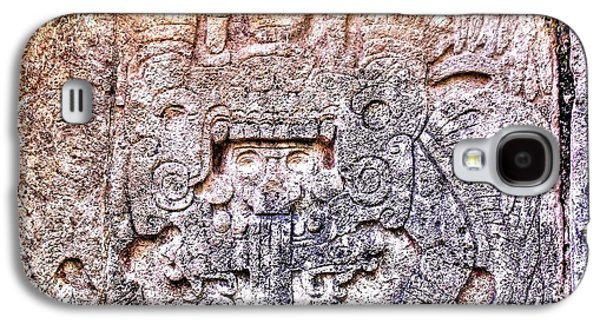 Mayan Hieroglyphic Carving Galaxy S4 Case by Paul Williams