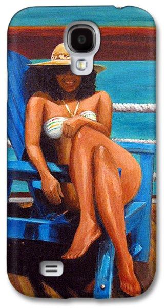 Mayi Caribe - I Wish You Were Here Galaxy S4 Case by Patricia Awapara