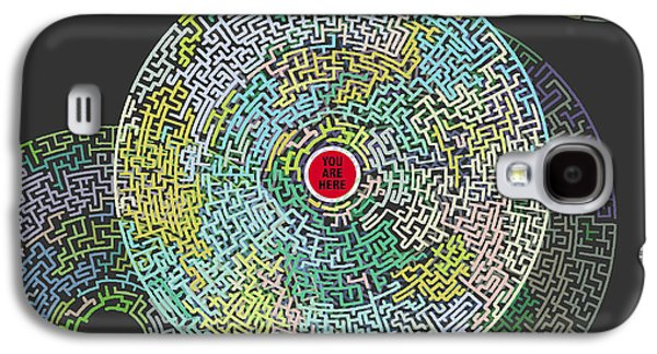Maze You Cant Get There From Here Galaxy S4 Case by Tony Rubino