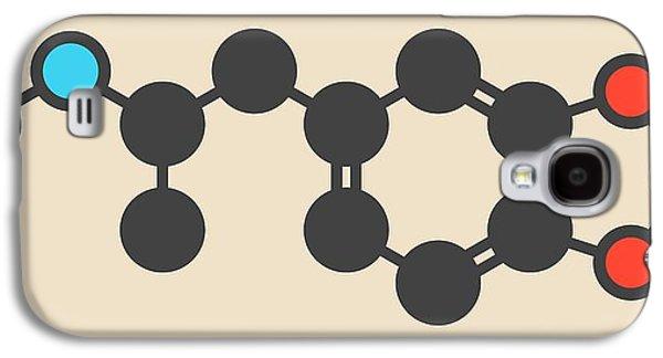 Mdma Ecstasy Party Drug Molecule Galaxy S4 Case by Molekuul