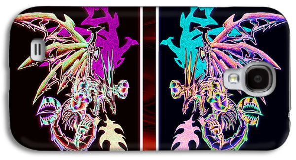 Mech Dragons Pastel Galaxy S4 Case