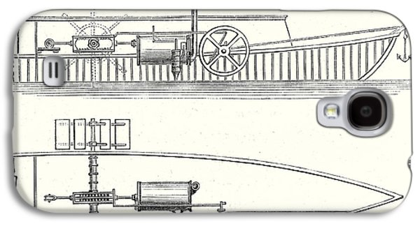 Mechanism Of Marquis De Jouffreys Paddle Steamers Engine Galaxy S4 Case