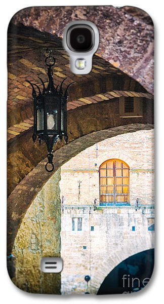 Galaxy S4 Case featuring the photograph Medieval Arches With Lamp by Silvia Ganora