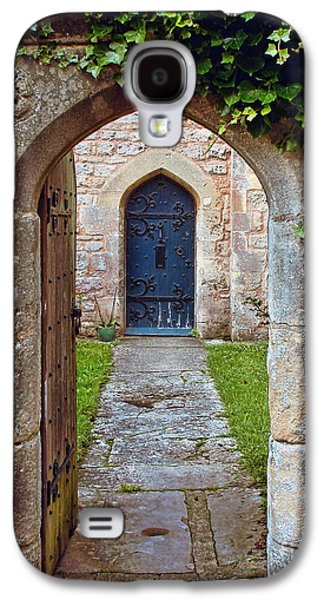 Medieval English Stone Archway And Ornate Wooden Door Galaxy S4 Case by Menega Sabidussi