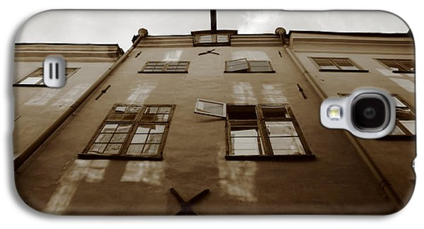 Medieval House With Open Window - Sepia Galaxy S4 Case by Ulrich Kunst And Bettina Scheidulin