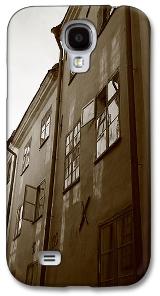 Medieval Houses - Sepia Galaxy S4 Case by Ulrich Kunst And Bettina Scheidulin