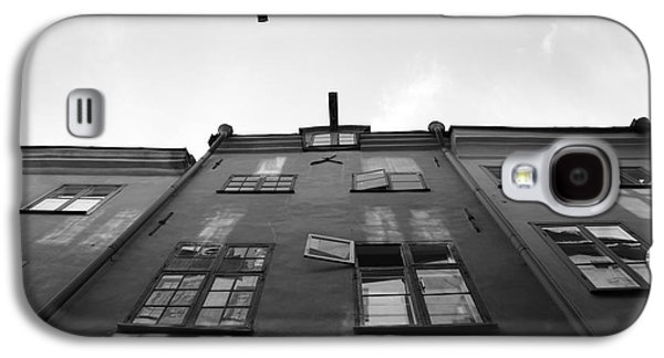 Medieval Houses With Open Window - Monochrome Galaxy S4 Case by Ulrich Kunst And Bettina Scheidulin