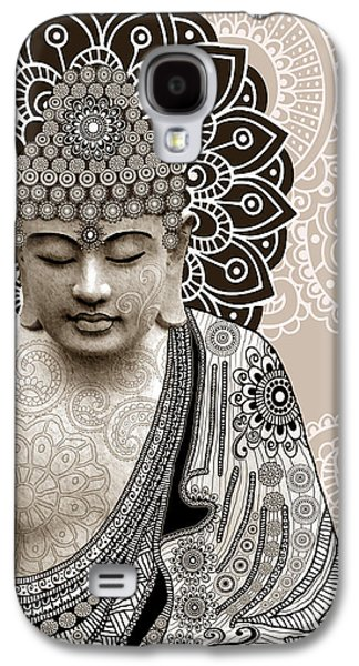 Meditation Mehndi - Paisley Buddha Artwork - Copyrighted Galaxy S4 Case by Christopher Beikmann