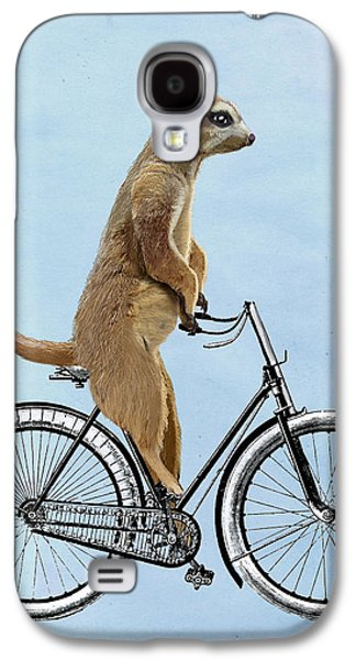 Meerkat On A Bicycle Galaxy S4 Case by Loopylolly