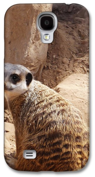 Meerkat Portrait Galaxy S4 Case by Methune Hively
