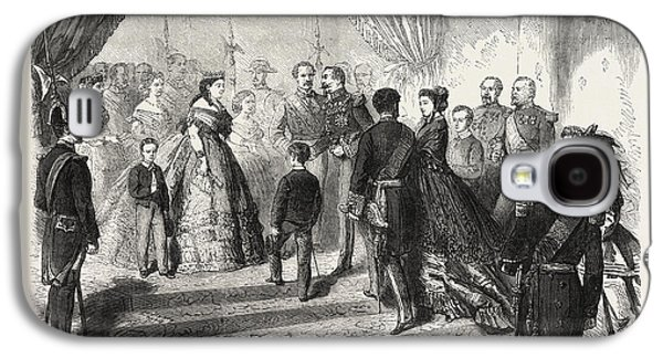 Meeting Of The French And Spanish Royal Families Galaxy S4 Case by English School