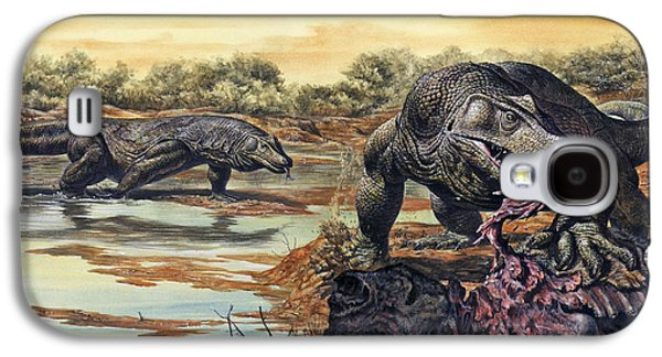 Megalania Giant Monitor Lizard Eating Galaxy S4 Case